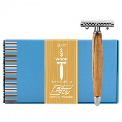 Fatip Olive Wood Gentle  Closed Comb Safety Razor